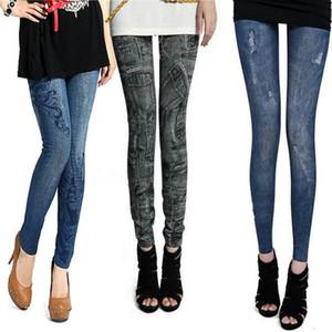 Slim Women's Leggings Lady 2Colors Denim Jeans Bodycon Leggings Jeggings Pants New For Free Shipping