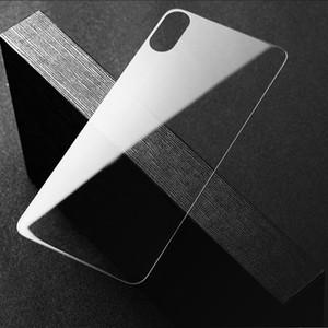 0.3mm Premium Закаленное стекло для iPhone 12 12PRO MAX 8 8PLUS XS XSMAX SE 2020 Case Дружественный прозрачный защитный экран Назад