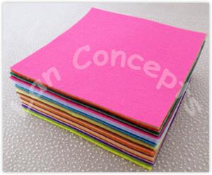 شحن مجاني diy البوليستر ورأى نسيج محبوكة ورقة للحرفة العمل 49 الألوان للاختيار من بينها - 300x300x1 ملليمتر 98 قطعة / الوحدة LA0076