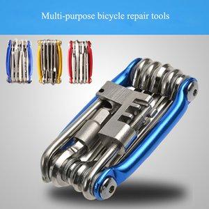 사이클링 자전거 수리 도구 휴대용 자전거 유지 보수 도구 수리 자전거 다기능 11 한 체인 커터 제거 도구