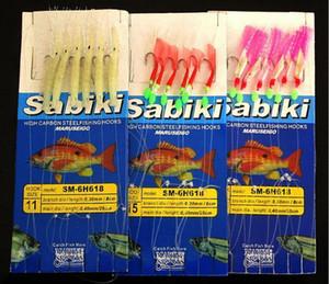 Горячо! 10шт 6bionic приманки крючки 3types приманки Sabiki рыболовный крючок джиг крючки червь крючки из углеродистой стали высокого качества!