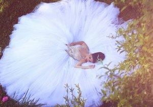 Бальное платье Modest Berta с бисером бальное платье Повседневные свадебные платья 2016 Арабский Белый Тюль Свадебные платья