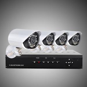 ترقية نظام أمن الوطن H.264 4CH 960H شبكة DVR مع 4PCS 700TVL اللون كاميرات مضادة للماء ، 500G HDD الدوائر التلفزيونية المغلقة نظام H203