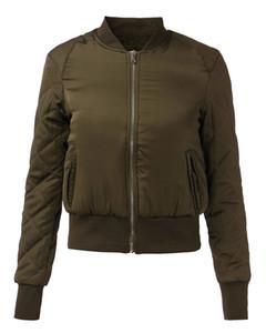 2015 Осень Зима новейшая мода женщины V-образным вырезом качество куртка коротко обрезанные тонкий мягкий молния пальто пилоты верхняя одежда 3 Цвет FG1511