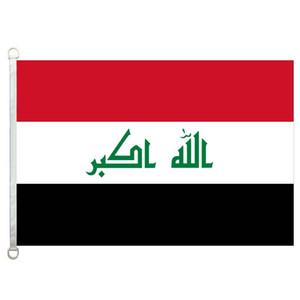 Bandiera di buona Iraq Flag Banner 3X5FT-90x150cm 100% poliestere bandiere di paesi, 110gsm ordito tessuto a maglia bandiera esterna