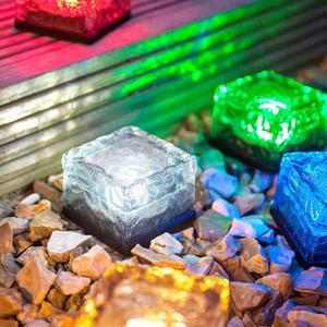 RGB Solar Brick Light Bunte LED-Kristallwürfel Licht Gartenleuchten Außenleuchten Landschaft Licht Solar Lampe U-Dekoration Lichter