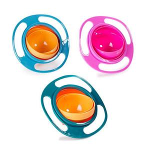 360 원형 회전 키드 증명 엎질러 진 먹이 뚜껑이있는 유아용 자이로 보울 먹이를 엎 지르지 않도록 어린이 먹이 그릇