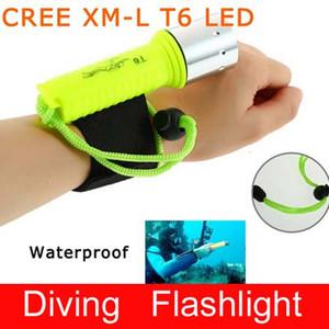 Epacket gratuit, imperméable à l'eau 1600LM CREE XM-L XML T6 LED lampe de poche lampe de poche sous-marine Lampe torche (T6-1)