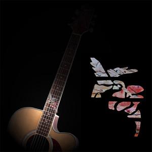 DIY Gitar Klavye Kakma Etiket Gitar Boyun Headstock Fret Çıkartmaları Uzay Serisi Guitarra Ukulele Kakma Sticker
