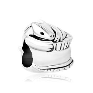 Gioielli personalizzati piccolo drago animale europeo distanziatore perline braccialetto di fascino in metallo con foro grande Pandora Chamilia compatibile