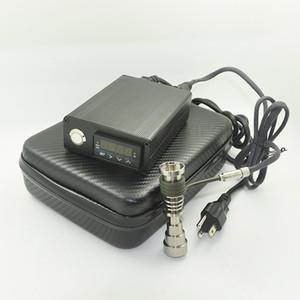 Pas cher Electric Dab Nail Box Kit complet chauffage bobine avec Gr2 Titanium Nails kit régulateur de température pour Rig huile verre Bongs tuyau d'eau