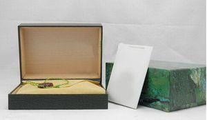 Verde de lujo de fábrica con la caja original de madera reloj de la tarjeta Monedero papeles de las cajas BoxesCases caja de reloj de pulsera