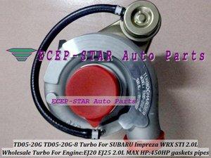 TD05-20G-8 TD05-20G TD05 SUBARU Impreza Için 20G 8 Turbo Turbo Türbin WRX STI EJ20 EJ25 2.0L MAX 450HP ücretsiz contalar ve boru uydurma