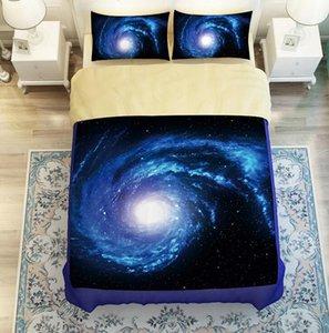Incrível Galaxy Starry Sky Bedding Sets Universo Meditação Natureza ataraxia cama twin sets Rainha King Size
