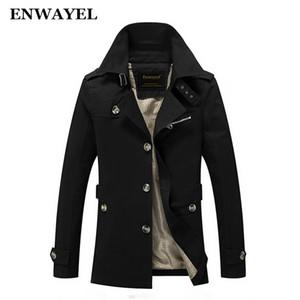 ENWAYEL 2017 весна осень куртка мужчины Slim Fit пальто Мужские хлопок кнопка мужской повседневная ветровка пальто куртки пальто 8888