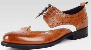 2017 новый роскошный черный белый мужские туфли старинные мужские зритель обувь Оксфорд черный белый европейский костюмы Мужская обувь