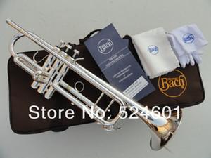 Yeni Profesyonel Cihazlar Bach LT180S-37 Trompet Gümüş Kaplama Yüzey Yüksek Kalite Pirinç Aletleri İnci Düğmeleri Bb Trompet gerçekleştirmek