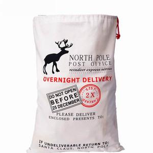 DHL Free shipping New item drawstring Gift Bag Christmas Canvas Santa Sack