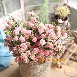 4 Farbe 9 Kopf Roses Bunte Simulations-Blumen-handgemachter PE-Schaum-Rose für Hochzeit Haus- und Blumen