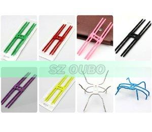 Montagem de aranha flexível para o telefone móvel Suporte Universal para todos os fins para telefones celulares Suporte de grampo de telefone cores de mistura