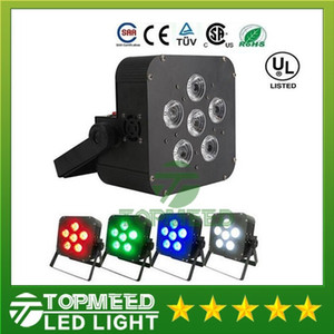 DHL 6x8w LED Par Light Wireless 4in1 Batteria led piatto Wireless DMX LED Stage Batteria alimentata led luci par piatte Club Lighting 44