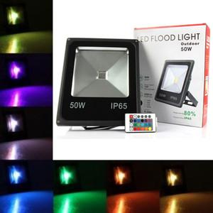 Dış Aydınlatma 10 W 20 W 30 W 50 W RGB Led Projektörler Su Geçirmez Led Sel Işık Manzara Duvar Lambası AC 85-265 V ce ul DLC