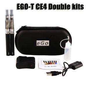 Ego t ce4 doppel starter kit 1,6 ml ce4 zerstäuber clearomizer 650 900 1100 mAh ego-t batterie reißverschluss fall bunte