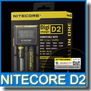 Nitecore 디지털 충전기 D2 배터리 충전기 2 18650 18350 18500 배터리 충전기 정품 Nitecore D2 배터리 충전기