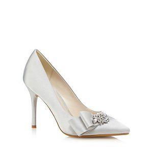 2016 White Wedding SHoes para los zapatos de novia Sexy Custom Made Plus Crystal Womens Pumps Cheap Modest Sexy Elegant Party Shoes New Arrive