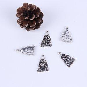 2015New fashion vente chaude argent / cuivre rétro arbre de Noël bijoux DIY accessoires pendentif fit Collier ou bracelet charme 400pcs / lot062x