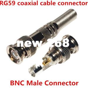 100 шт. / лот новый DIY BNC мужской пайки тип штепсельной вилки муфты разъем адаптера для cctv RG59 коаксиальный видео кабель Бесплатная доставка