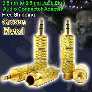 3.5mm Macho a 6.5mm Adaptador de Enchufe Hembra Jack Microfono Mic Para Micrófono Dinámico Micrófono de Condensador Estudio Micrófono de Estudio de Grabación