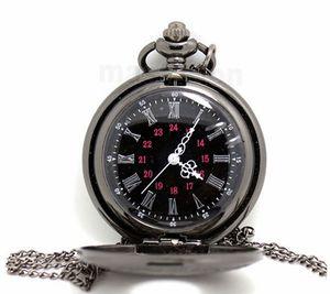 montre de poche vintage classique noir montre de poche vintage Hommes Femmes antiques montre de table Tuo PW025