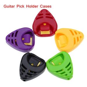 Alice Guitar Pick Plectrum Titular Estojos Sticky Plactic Triângulo Projeto Em Forma de Coração 5 pçs / set Peças de Guitarra Acessórios