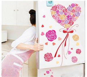 Un ramo de rosas Wall Art Mural Decor Pink Roses Romántico Decoración del hogar Wallpaper Decal Sticker Valentine's Day Especial Wallpaper Poster