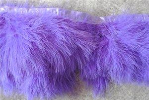 Ücretsiz Kargo 10 yards / lot için mor Marabou türkiye tüy trim saçak tüy el sanatları kostümleri parti olay malzemeleri