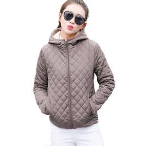 Toptan-Sonbahar 2017 Parkas temel ceketler Kadın Kadın Kış artı kadife kuzu kapşonlu Palto Pamuk Kış Ceket Bayan Dış Giyim coat