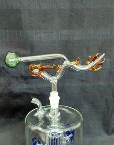Gros accessoires de narguilé en verre, accessoires de bong en verre, pot de dragon classique, livraison gratuite, grand mieux