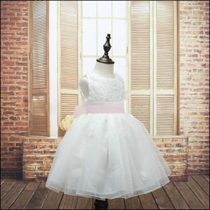 Abiti da sposa per bambini Hight Quality Ragazze Princess Party pizzo floreale rosa TUTU Taglia: 100-140 nave libera MOQ: 300pcs SVS0435 #