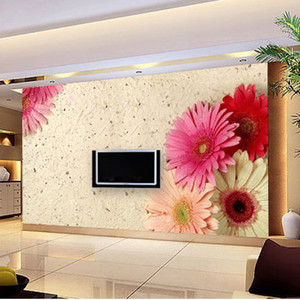 can be Customized art large Mural fashion stereo 3d wall roll rose petals sofa tv background wallpaper wall stickers home decor
