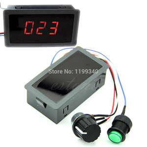 Wholesale-A25 hot-selling Motor DC 6-30V 12V 24V Max 8A PWM Speed Controller With Digital Display & Switch free shipping