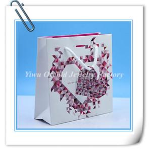 도매 10 PC 절묘한 고품질 종이 선물 가방 16 * 16 * 6cm 판도라 쥬얼리 팔찌 목걸이 상자 포장 가방 쇼핑 가방에 맞게
