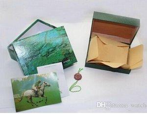 المورد مع مربع الفاخرة مصنع الأخضر مربع محفظة ووتش b bokascases بطاقة خشبية أوراق ساعة اليد الأصلية asmjg