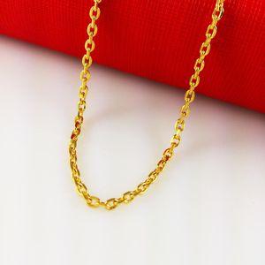 سريع شحن مجاني 18 كيلو الذهب الأصفر معبأ الرجال سلسلة قلادة العرض: 2.5 مم ، الطول: 45 سم ، الوزن :. 5.3g