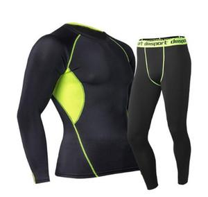 Yeni erkek Termal İç Giyim Seti 2020 Kış Sıcak Sıcak Kuru Teknoloji Yüzey Elastik Kuvvet Paçalı don Suit Sıkıştırma şanslı john