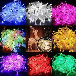 Lumières de Noël 20M / 30M / 50M / 100M 800 LED guirlande lumineuse décor de Noël lumières s'allume rouge / bleu / vert partie de mariage coloré lumière
