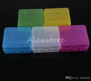 20pcs 휴대용 플라스틱 배터리 케이스 상자 안전 홀더 스토리지 컨테이너 5 색 팩 배터리 2 * 26650 또는 3 * 18650 리튬 이온 배터리