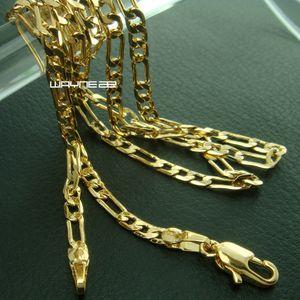 Eleganter Schmuck 18K Gelbgold gefüllt Halskette 45cm Länge n271