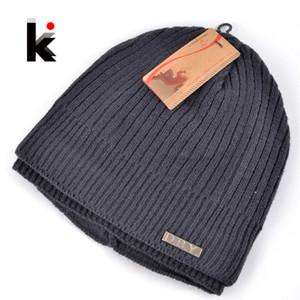 Оптово-2015 Skullies зима Балаклава мужская дизайнерская шляпа лыжная маска вязаная шерстяная шапка для мужчин шапочка плюс толстые бархатные шапки для мужчин тюрбан
