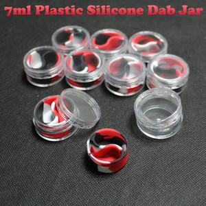 Conteneur en silicone personnalisé récipient en plastique dabber pot slick silicone pot de cire de silicone bho extraction butane huile de hasch contenant de silicone dabber